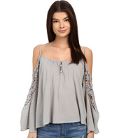 Brigitte Bailey - Joslyn Cold Shoulder Top with Crochet Detail