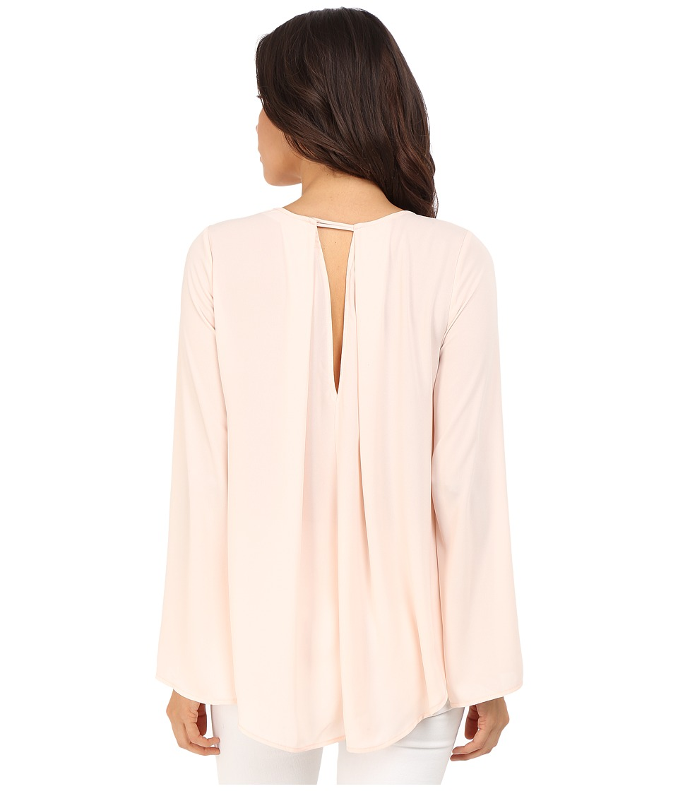 Brigitte Bailey Emillie Bell Sleeve Top with Back Pleat Baby Peach Womens Blouse