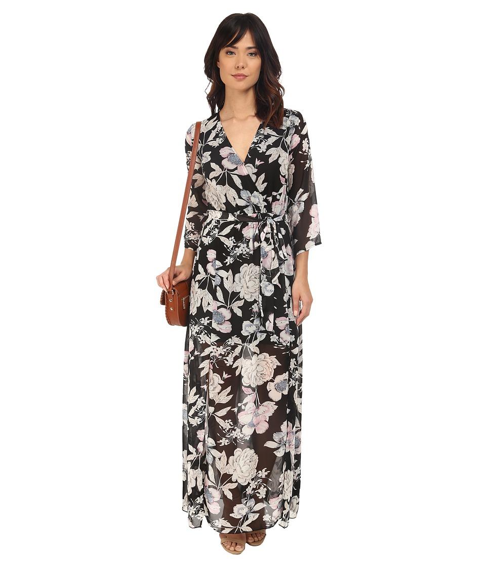 Brigitte Bailey Danica Bell Sleeve Maxi Dress Black Womens Dress