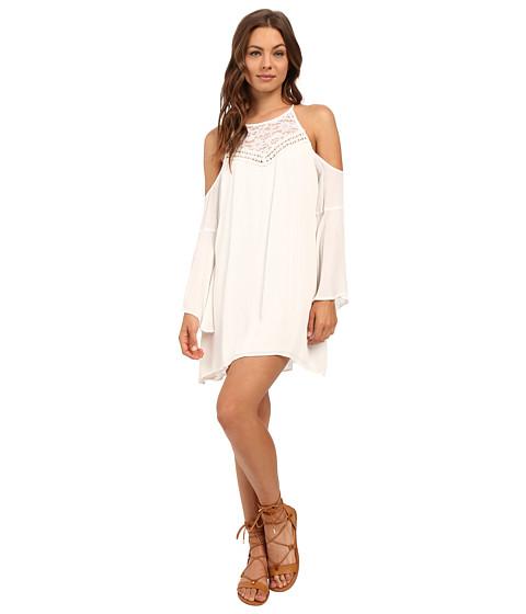 Brigitte Bailey Elora Bell Sleeve Open Shoulder Dress