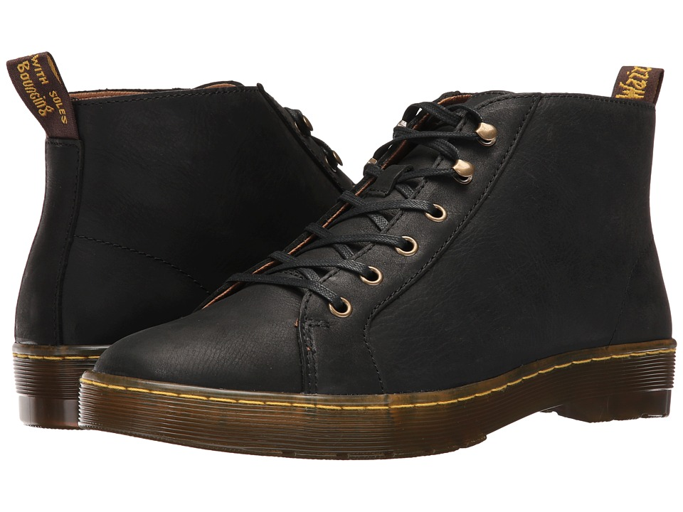 Dr. Martens Coburg 6-Eye Leather LTT Boot (Black Wyoming) Lace-up Boots