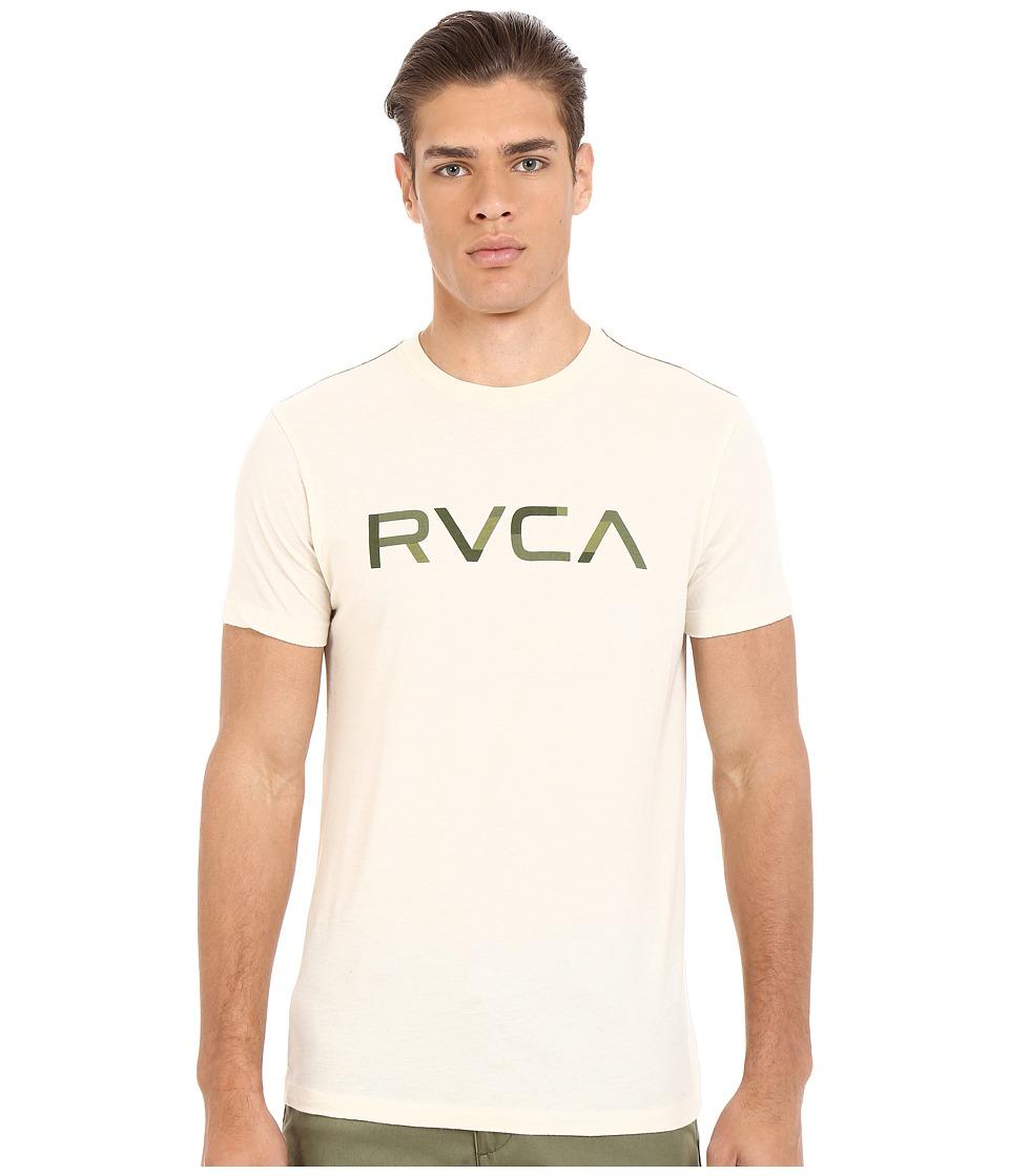 RVCA Blocked RVCA Vintage Dye Tee Almond Tea Mens T Shirt