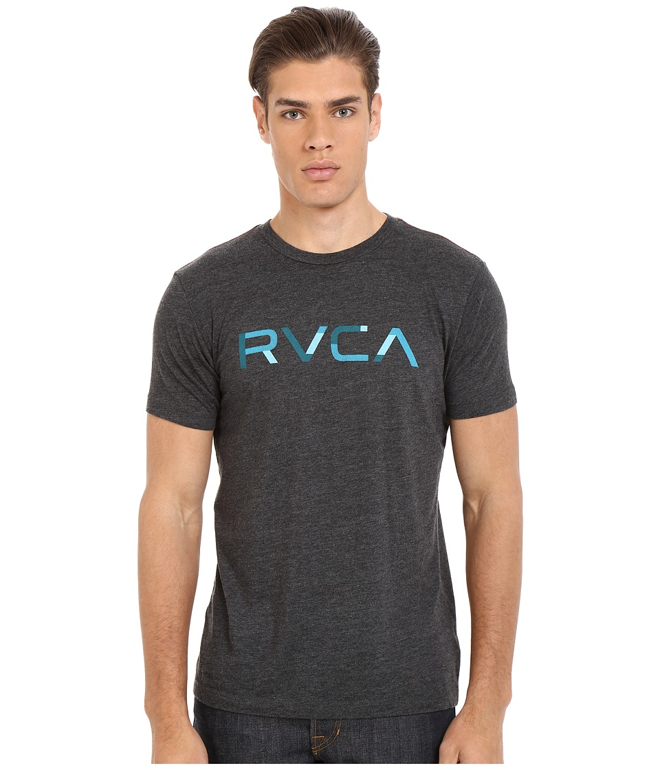 RVCA Blocked RVCA Vintage Dye Tee Black Mens T Shirt