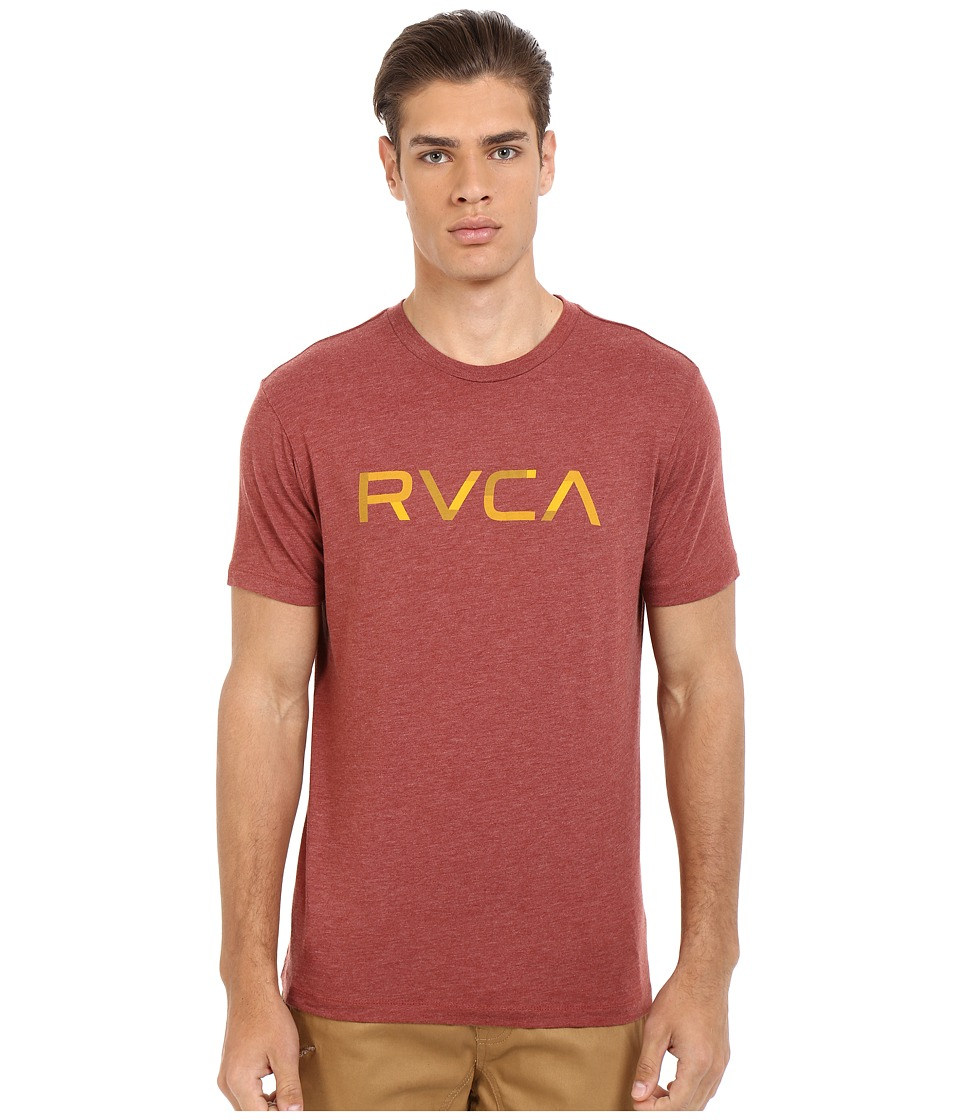 RVCA Blocked RVCA Vintage Dye Tee Brick Red Mens T Shirt