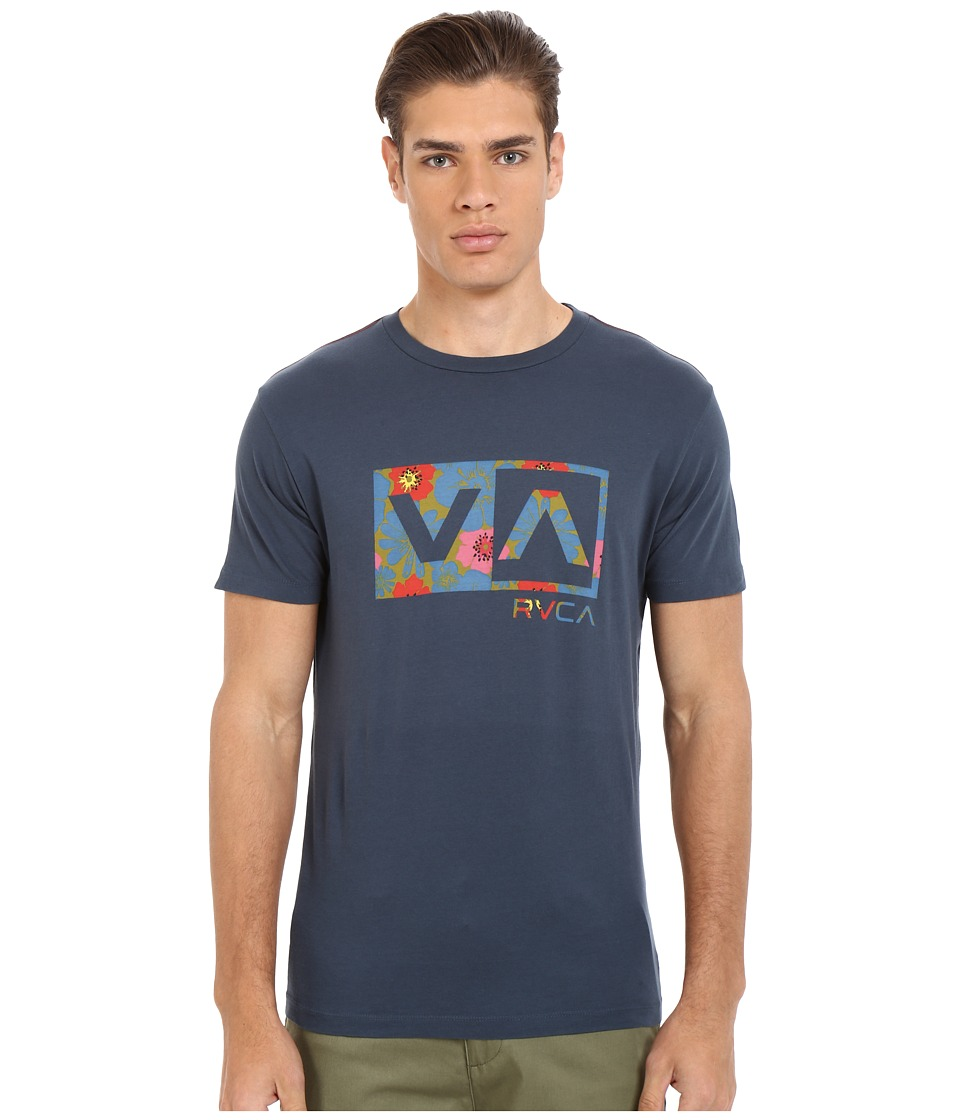 RVCA - Ashbury Balance Box Vintage Wash Tee (Midnight) Men