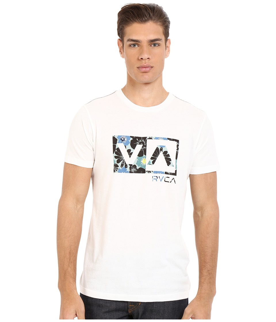 RVCA Ashbury Balance Box Vintage Wash Tee Vintage White Mens T Shirt