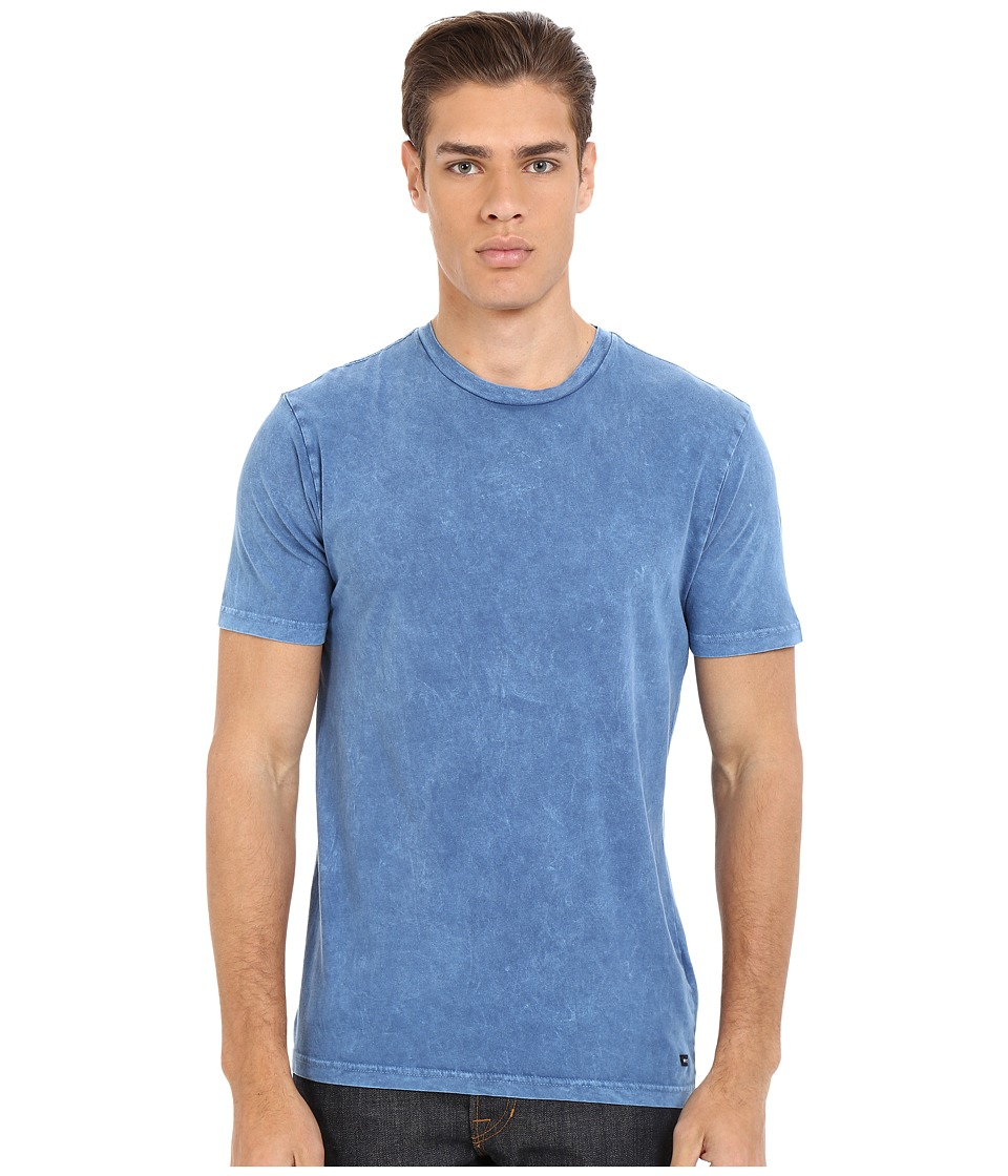 RVCA - Label Mineral Wash Tee (Dark Blue) Men