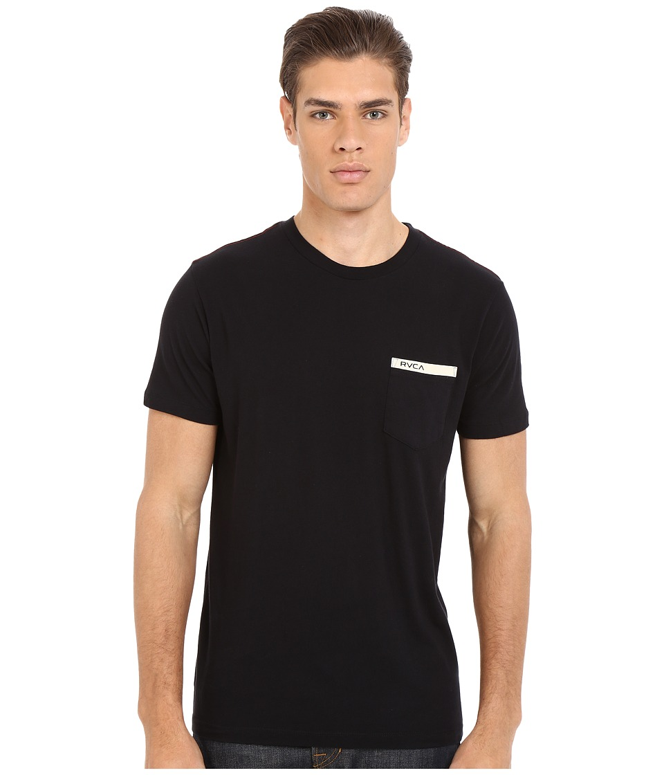 RVCA - Stripped Pocket Tee (Black) Men