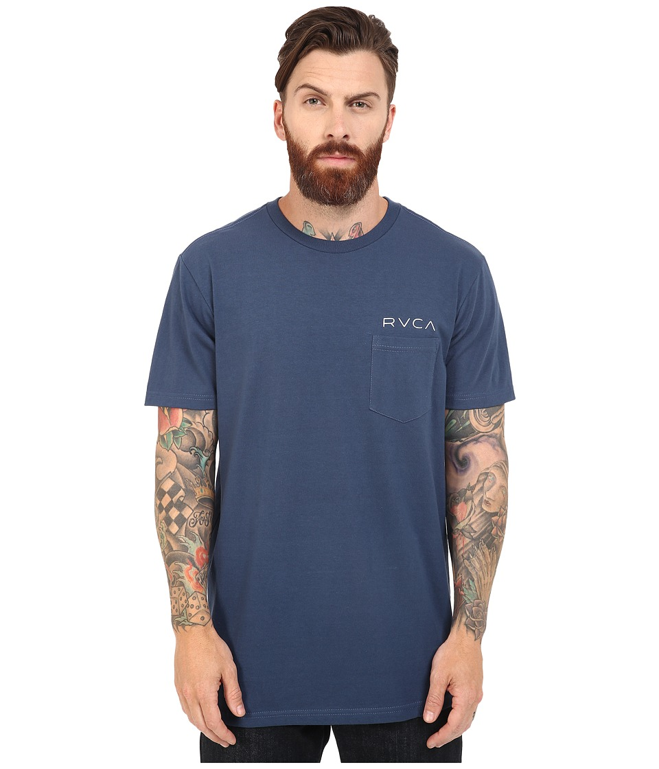 RVCA - Something Prolific Pocket Tee (Harbor Blue) Men