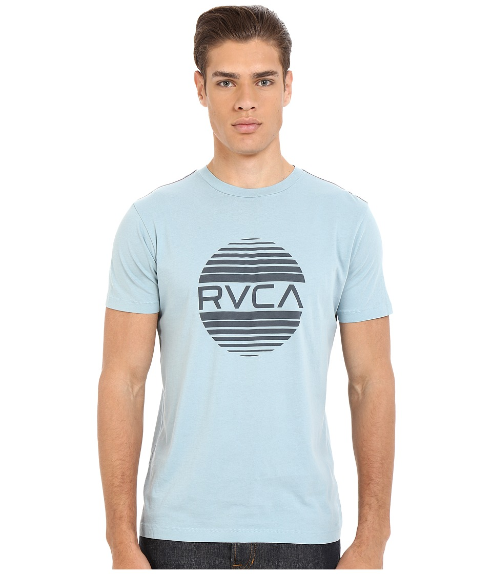 RVCA - Sanborn Vintage Wash Tee (Blue Grey) Men