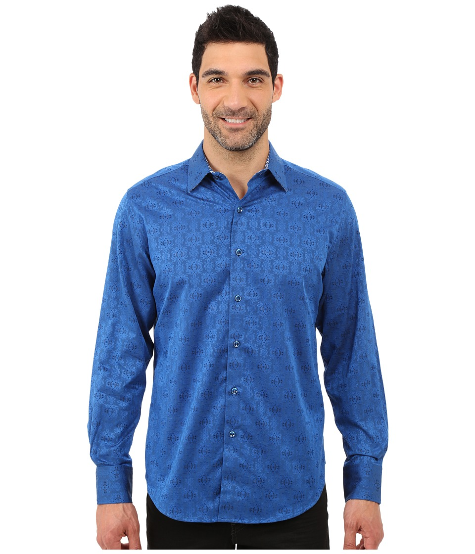 Robert Graham Cullen Sport Shirt (Navy) Men's Long Sleeve...