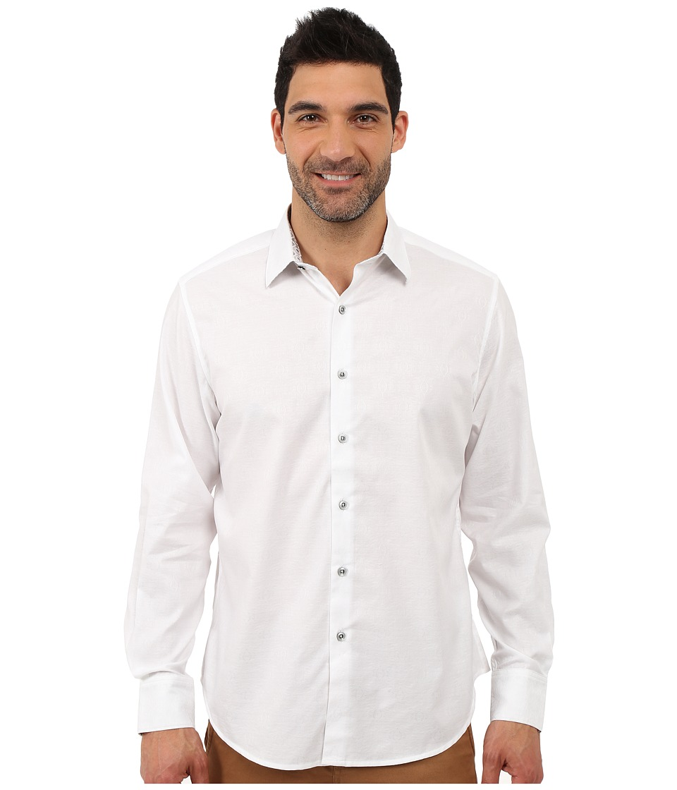 Robert Graham Cullen Sport Shirt (White) Men's Long Sleev...