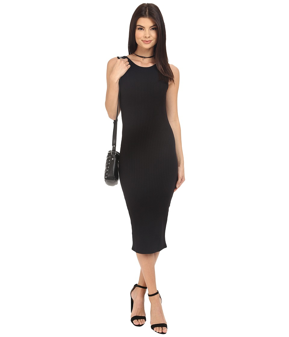 Clayton Kendrick Wide Rib Dress Black Womens Dress