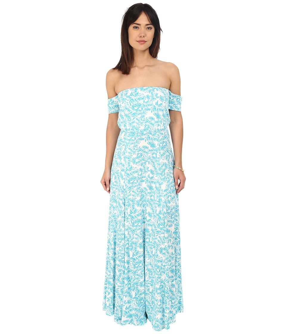 Clayton Margaret Dress Turquoise Sunflower Womens Dress