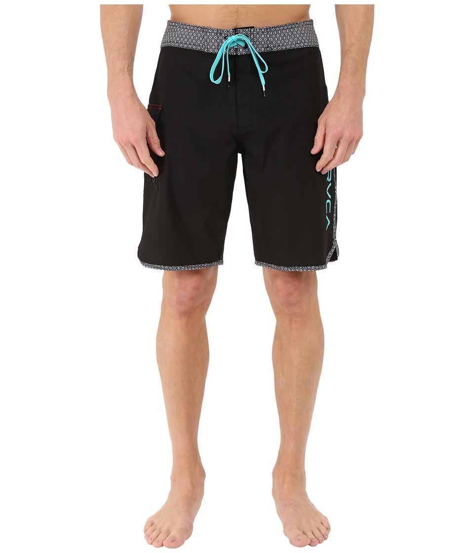 RVCA Eastern 20 Trunks Black Print Mens Swimwear