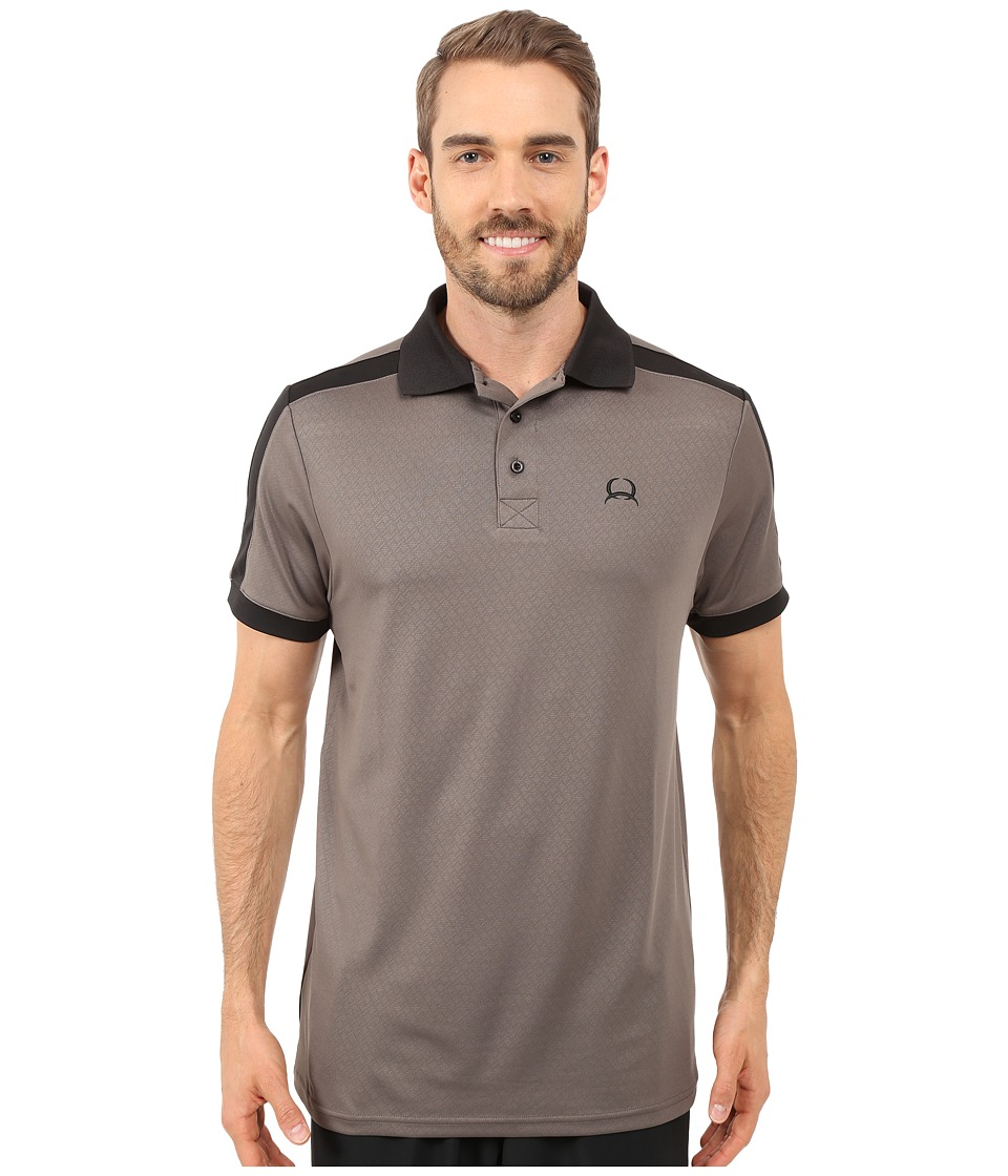 Cinch Athletic Tech Polo Gray Mens Short Sleeve Knit