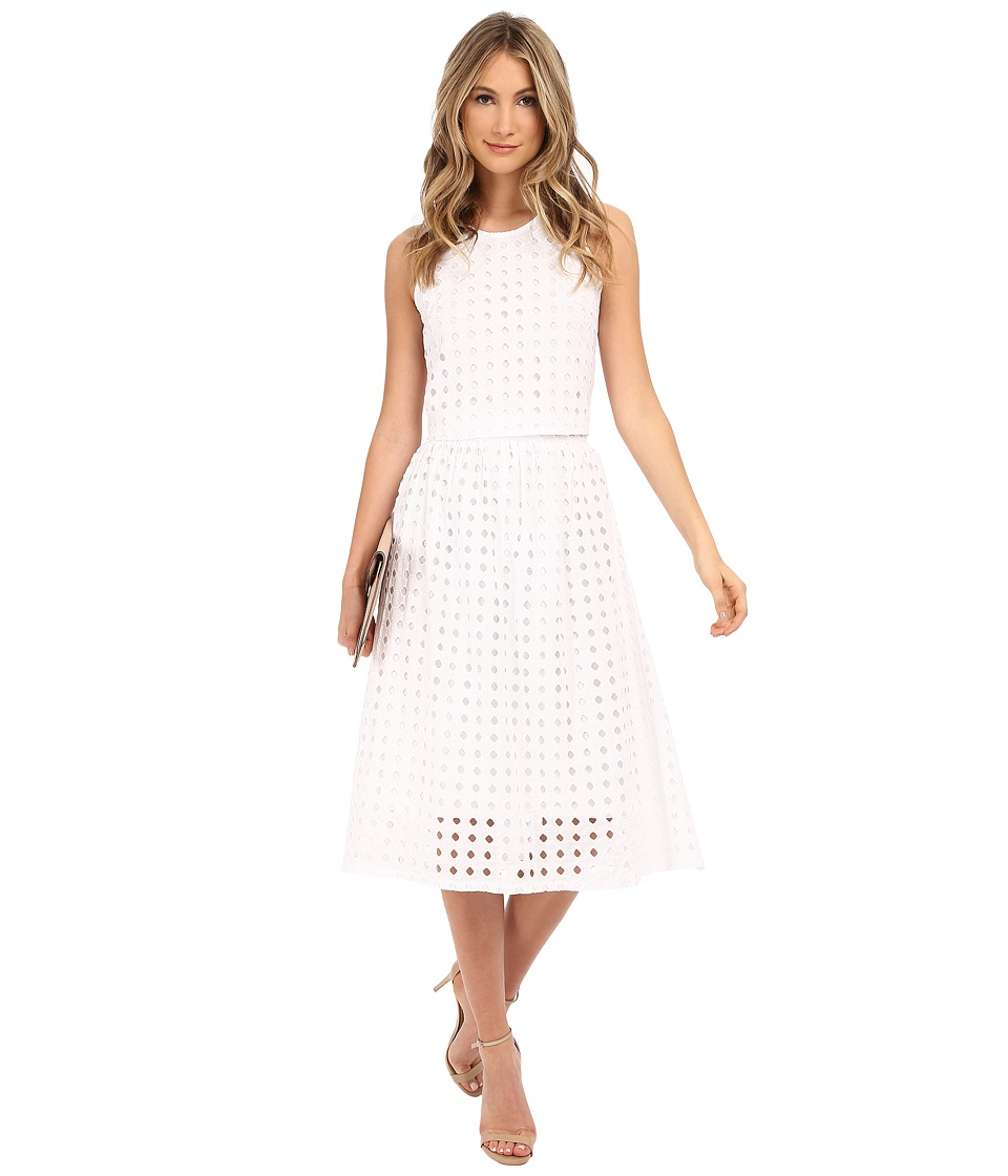 Clayton Vernon Eyelet Skirt Eyelet White Womens Skirt