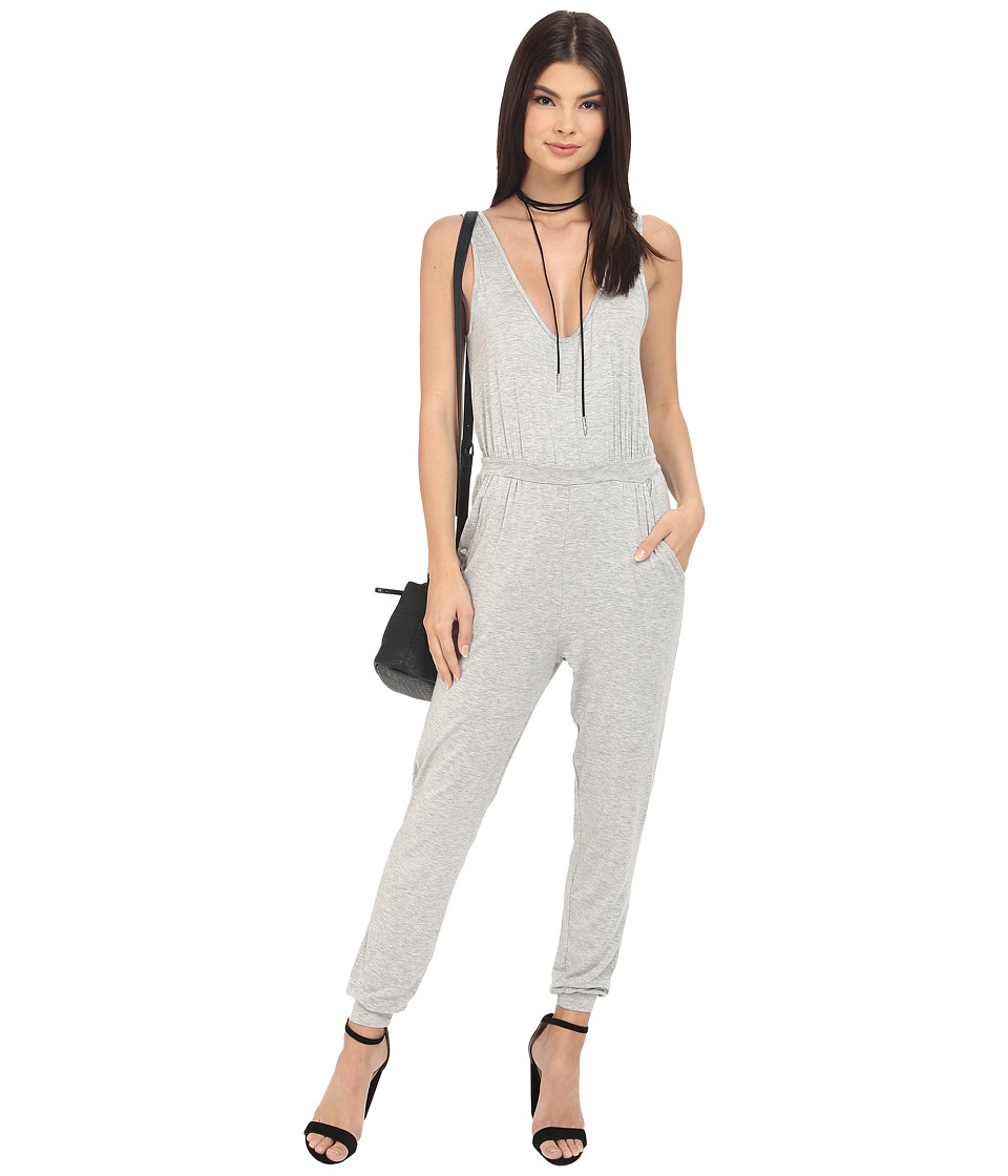 Clayton Ripley Jumpsuit Heather Grey Womens Jumpsuit Rompers One Piece