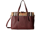 Burberry Kids - Mason House Check and Leather Baby Changing Bag