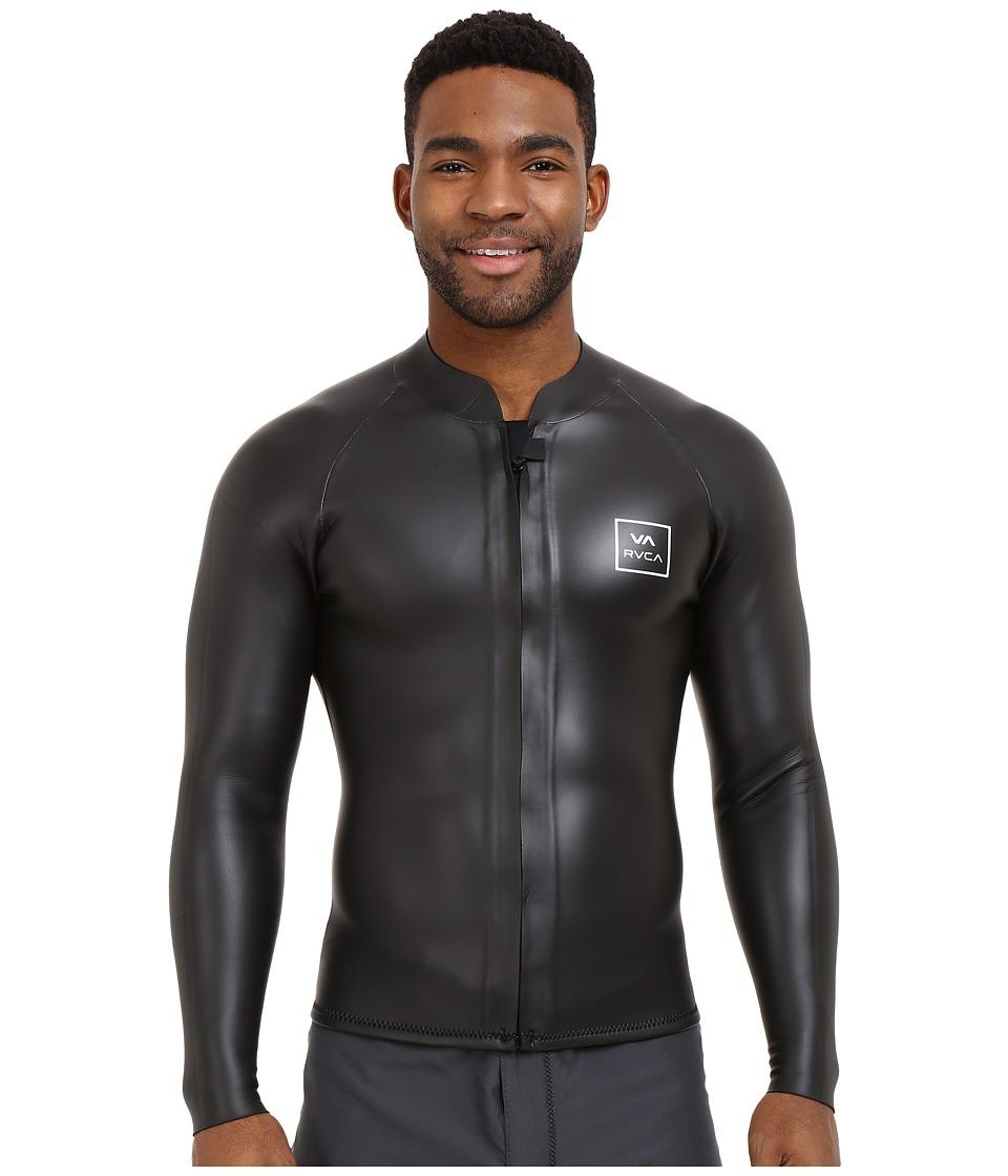 RVCA RVCA Front Zip Jacket Black Mens Swimwear