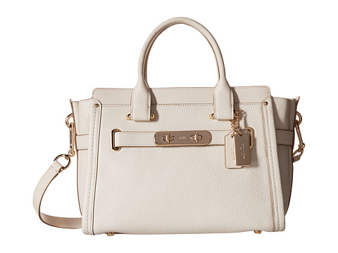 COACH Pebbled Leather Coach Swagger 27 - LI/Chalk