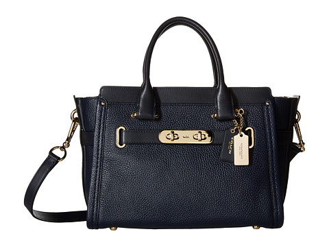 COACH Pebbled Leather Coach Swagger 27 - LI/Navy