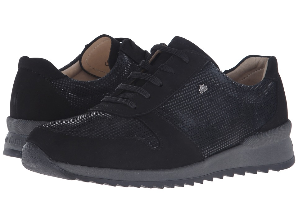 Finn Comfort Sidonia Black Womens Lace up casual Shoes