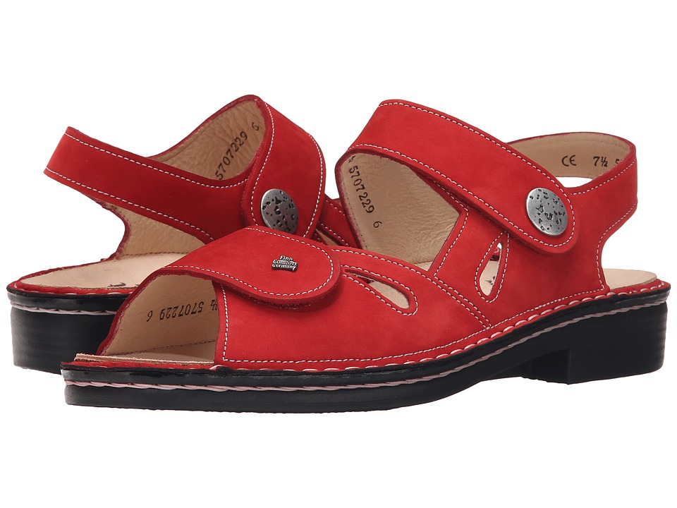 Finn Comfort Costa Red Womens Shoes