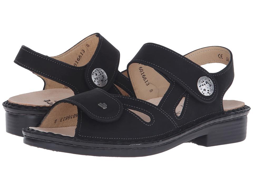 Finn Comfort Costa Black Womens Shoes