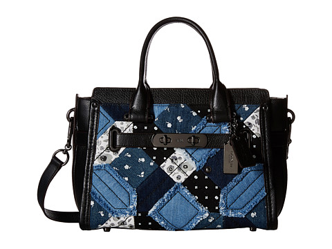COACH Canyon Quilt Denim Coach Swagger 27