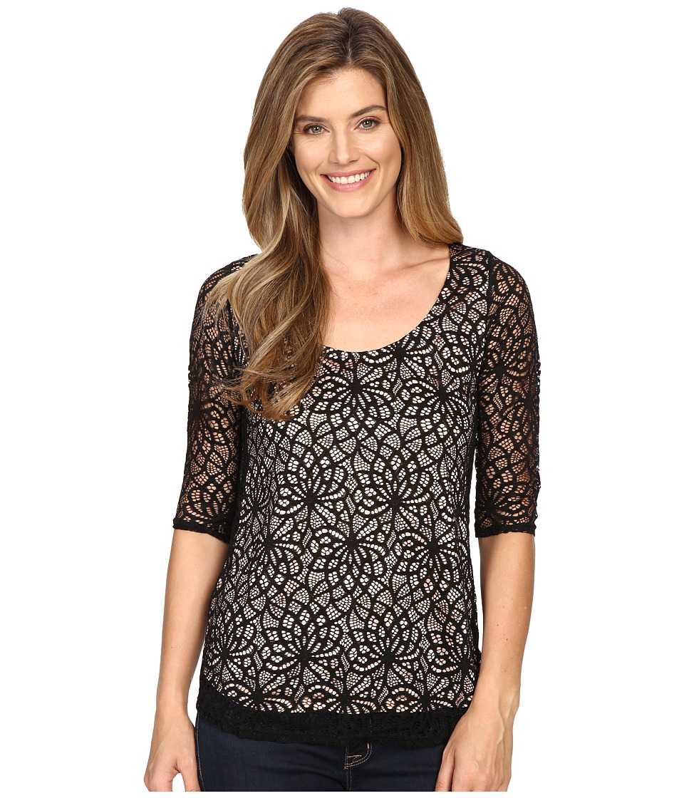 Roper - 0430 All Over Lace Tee (Black) Women