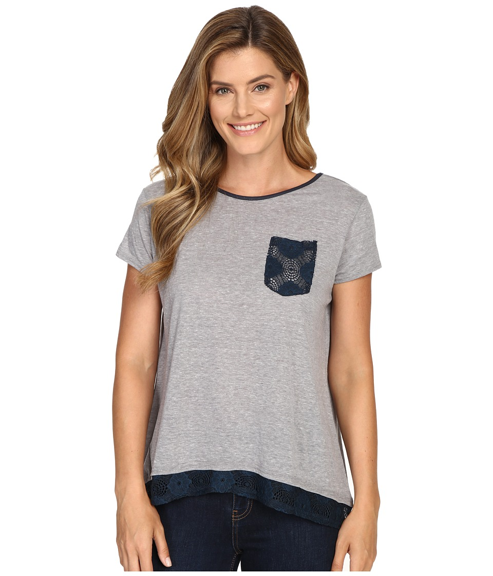 Roper - 0428 Lightweight Heather Jersey Slouchy Tee (Grey) Women
