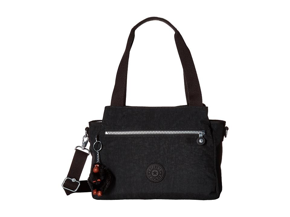Kipling Elysia Satchel (Black) Satchel Handbags