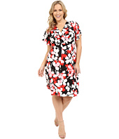 London Times - Plus Size Flat Blossom Fit and Flare