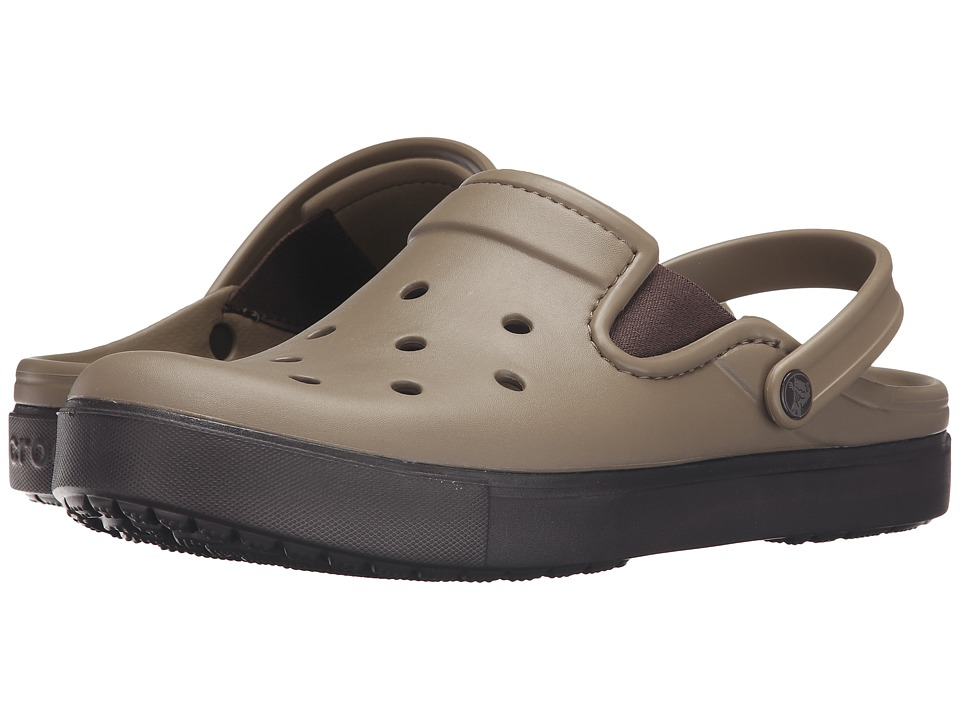Crocs - CitiLane Clog (Khaki/Espresso) Clog Shoes