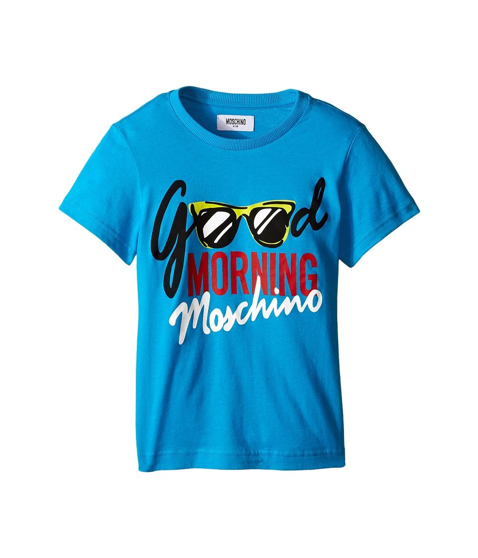 Moschino Kids Good Morning T Shirt Little Kids/Big Kids Blue Boys T Shirt