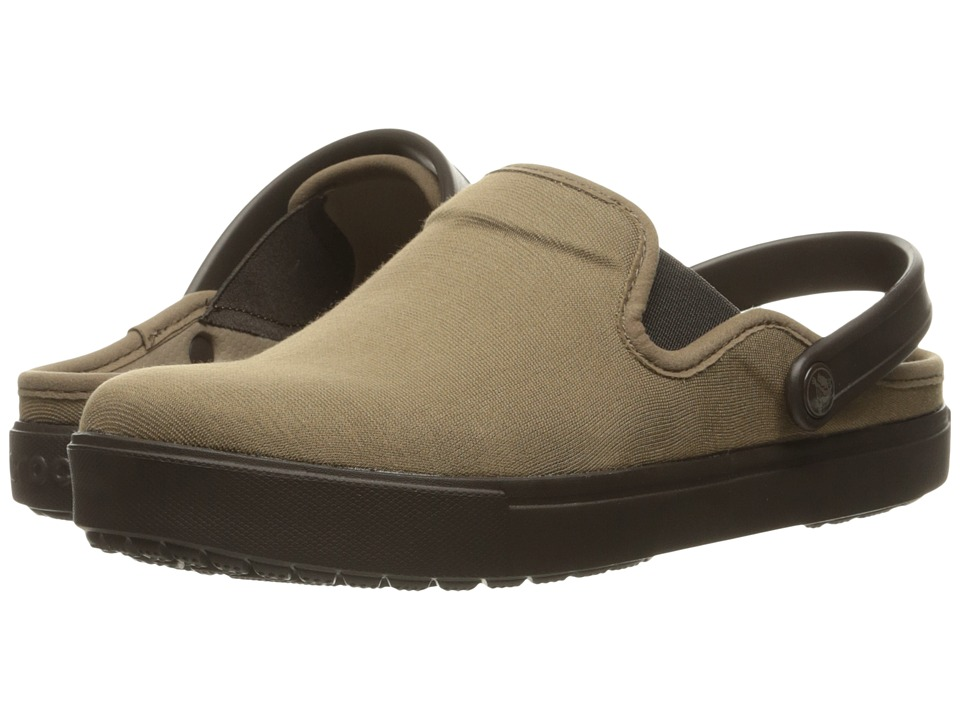 Crocs - CitiLane Canvas Clog (Khaki/Espresso) Clog Shoes