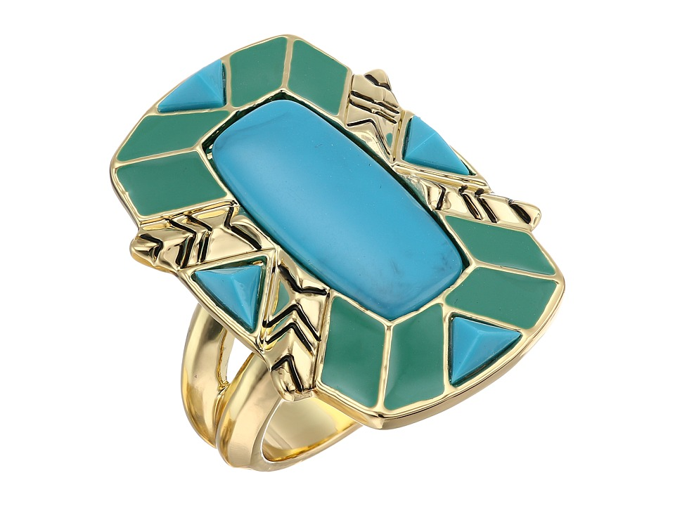 House of Harlow 1960 - Nile Delta Cocktail Ring (Turquoise) Ring