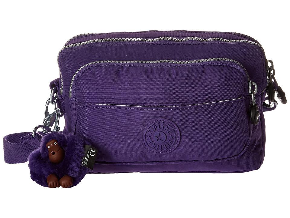 Kipling - Multiple Belt Crossbody Bag (Precisely Purple) Messenger Bags