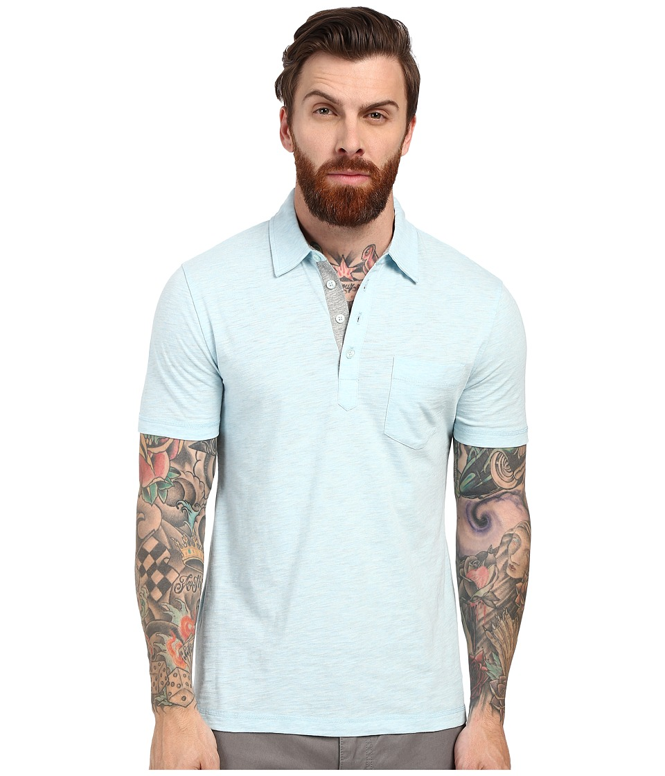 Original Penguin Bing Polo Crystal Blue Mens Short Sleeve Pullover