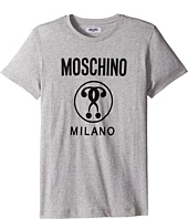 Moschino Kids - Short Sleeve Logo T-Shirt (Big Kids)