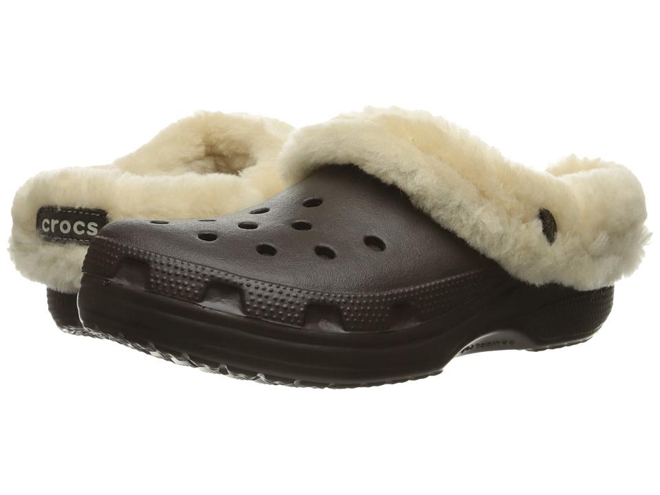 Crocs Classic Mammoth Luxe (Espresso) Clog Shoes