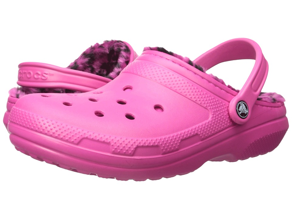 Crocs Classic Lined Pattern Clog (Candy Pink/Berry) Clog Shoes