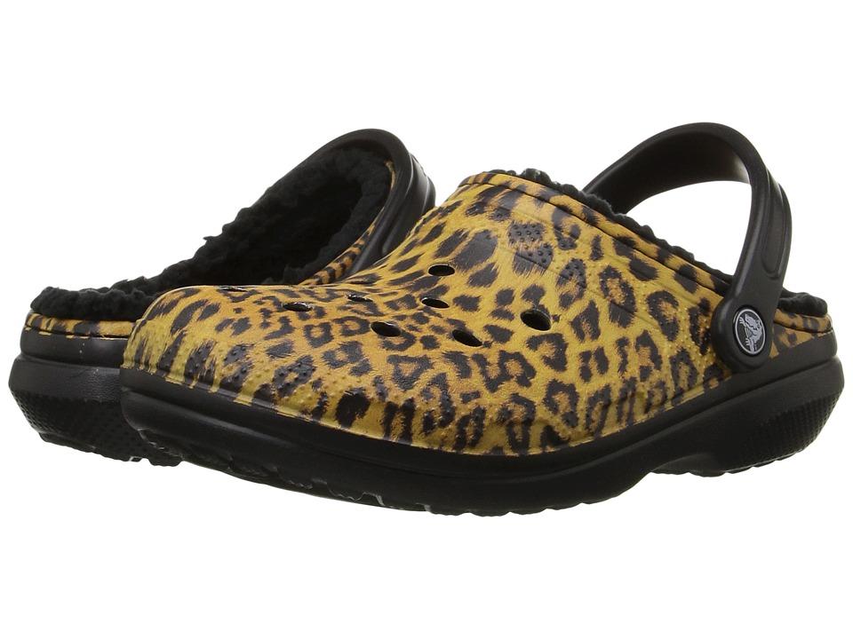 Crocs Classic Lined Graphic Clog (Black/Espresso) Clog Shoes