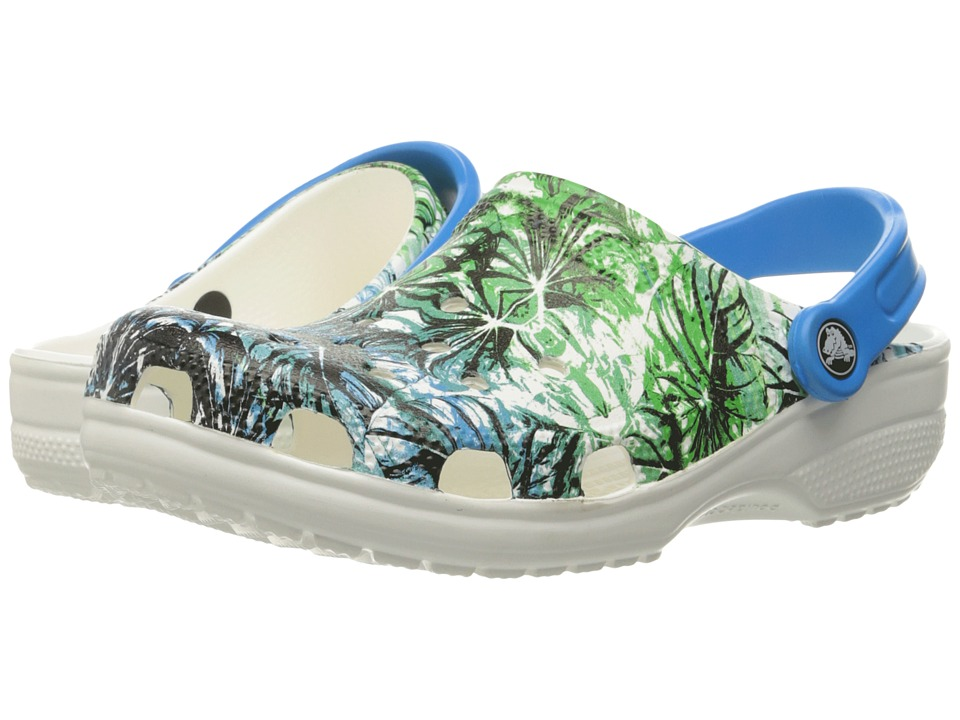 Crocs - Classic Tropical III Clog (White) Clog Shoes