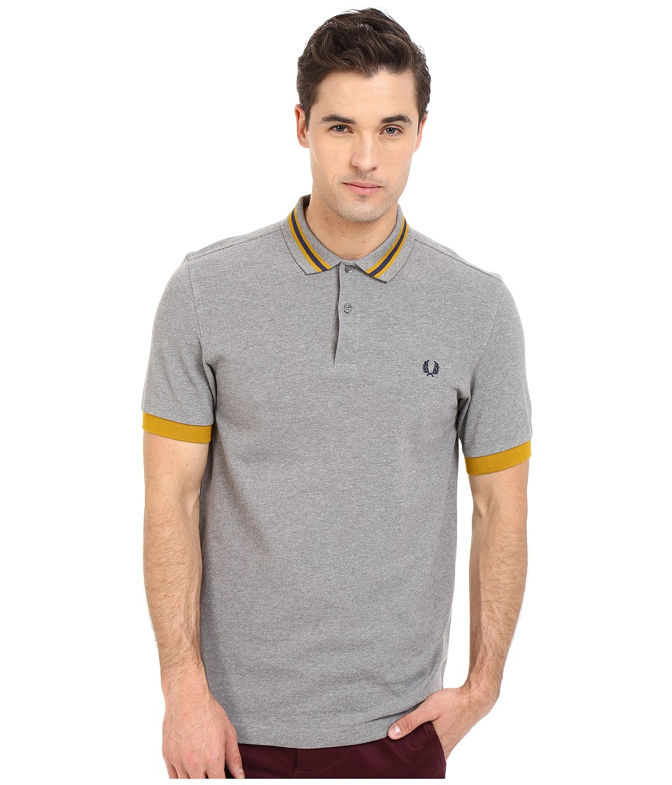Fred Perry Bomber Stripe Collar Shirt Ivy Mens Clothing