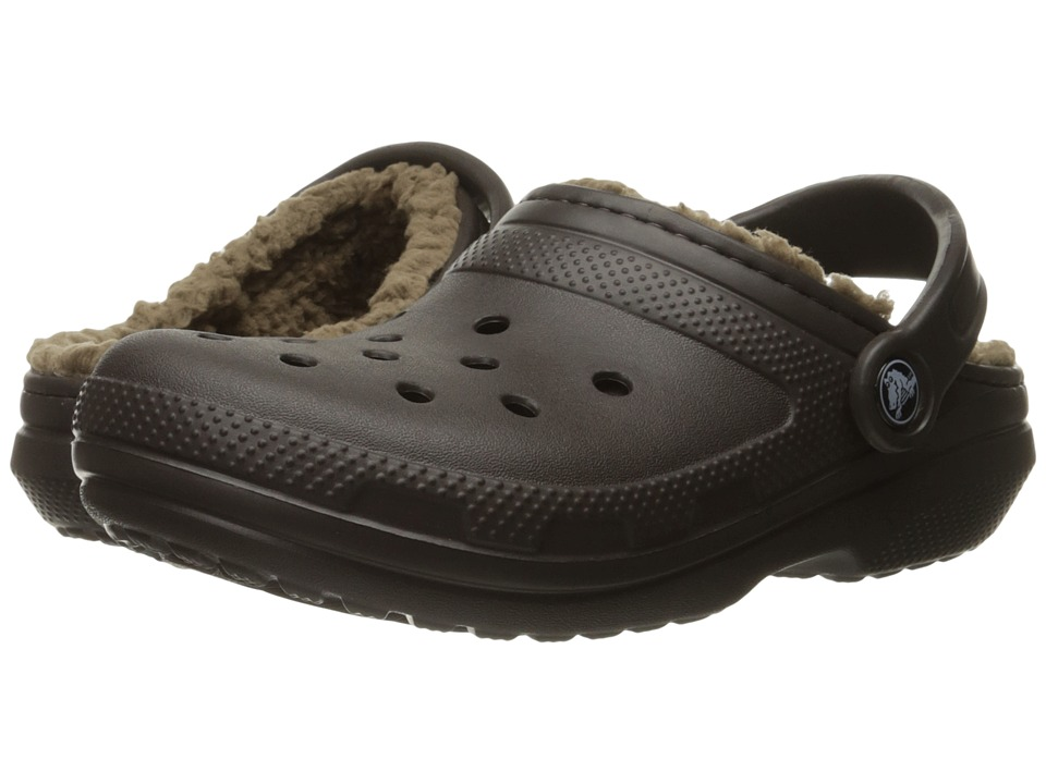 Crocs - Classic Lined Clog (Espresso/Walnut) Clog Shoes
