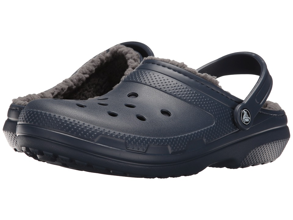 Crocs - Classic Lined Clog (Navy/Charcoal) Clog Shoes