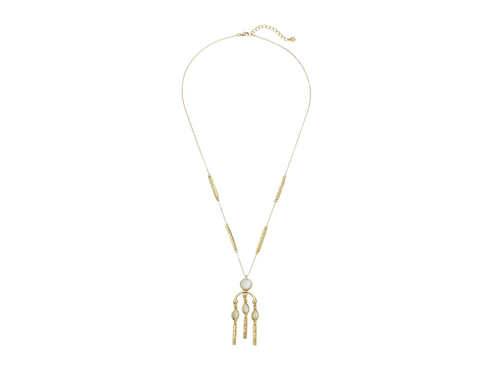 House of Harlow 1960 - Desert Oasis Drop Necklace (Mother-of-Pearl) Necklace