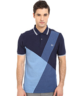 Fred Perry - Blue Colour Block Panel Shirt